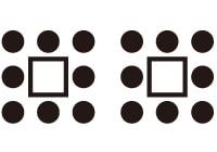 CLBC活動空間場地排列雙口字型